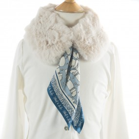 Mayoral Faux Fur Collar with Scarf Beige 5942