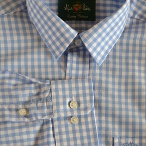 Alan Paine Blue Check Shirt 17