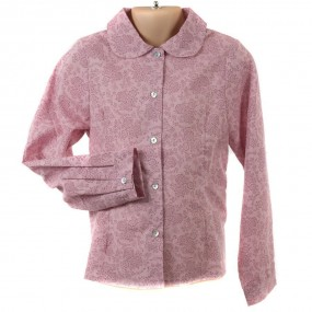 Startsmart Pink Floral Blouse with Peter Pan Collar