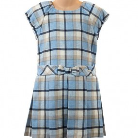 Mayoral Pale Blue Check Dress 4921