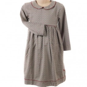Pigeon Tan Ditsy Dress