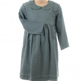 Pigeon Blue Ditsy Dress