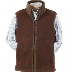 Alan Paine Russet Fleece Gilet FROM