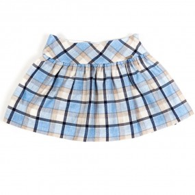 Mayoral Pale Blue Check Skirt (4901)