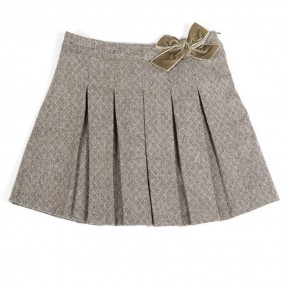 Startsmart Grey Pleated Skirt with Bow