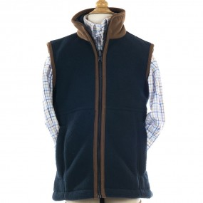Alan Paine Navy Fleece Gilet FROM