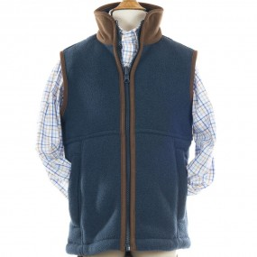 Alan Paine Steel Fleece Gilet