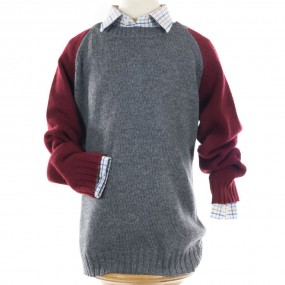 Bobine Bicolore  Grey & Wine Jumper