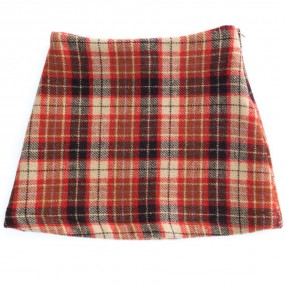 Startsmart Red and Tan Check Skirt
