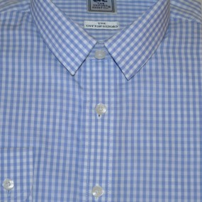 Oxford Shirt Company Pale Blue Check Shirt
