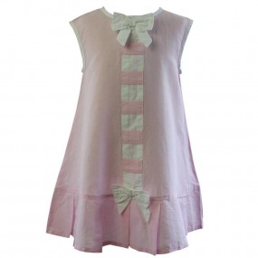 Powell Craft Pale Pink Linen Dress