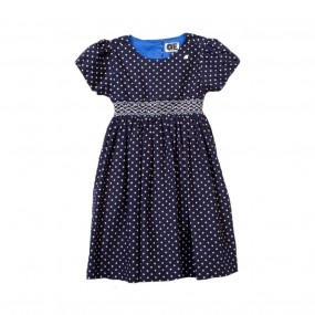 Question Everything Star Smock Dress (Navy)