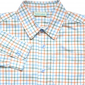 Ruth Lednik Orange Multi Check Shirt