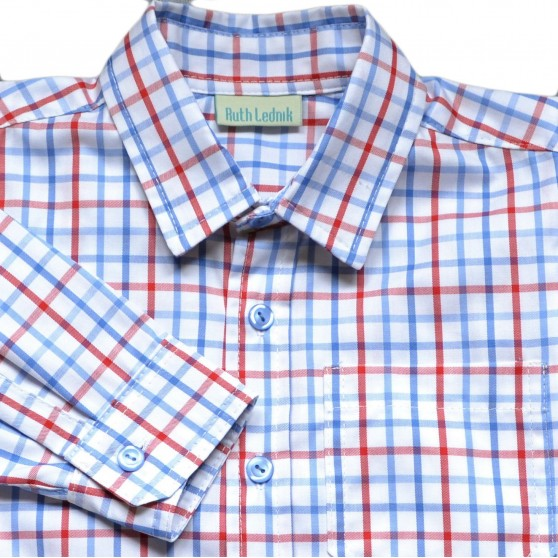 Ruth Lednik Blue & Red Check Shirt
