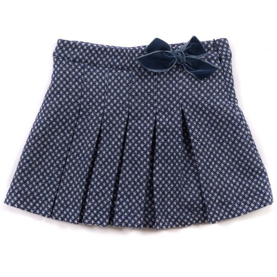 Startsmart Navy and White Orchid Skirt with Bow