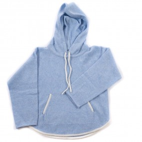 Startsmart Pale Blue Cashmere Loose Hoody FROM