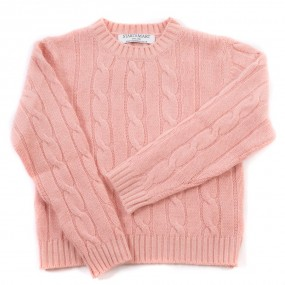 Startsmart Peach Pink Cable Knit Cashmere Jumper