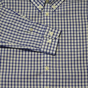 Surguy Navy Check Shirt
