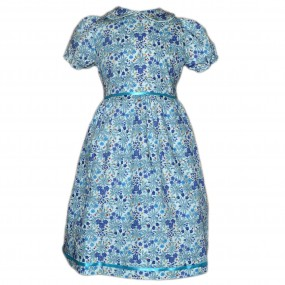 Toto Iris Dress with Puff Sleeves